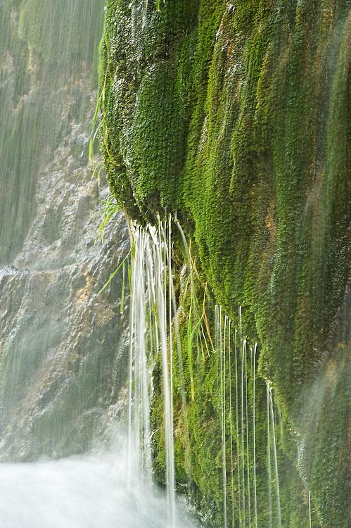 Veliki Prstvaci waterfalls detail in Upper Lakes, Plitvice National Park, Croatia