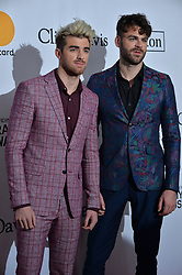 Andrew Taggart and Alex Pall of the Chainsmokers attend the Clive Davis and Recording Academy Pre-GRAMMY Gala and GRAMMY Salute to Industry Icons Honoring Jay-Z on January 27, 2018 in New York City.. Photo by Lionel Hahn/ABACAPRESS.COM