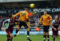 Photo: Kevin Poolman.<br />Wolverhampton Wanderers v Burnley. Coca Cola Championship. 17/02/2007. Michael Kightly of Wolves heads home their first goal.