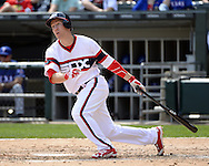 CHICAGO - APRIL 24:  Todd Frazier #21 of the Chicago White Sox bats against the Texas Rangers on April 24, 2016 at U.S. Cellular Field in Chicago, Illinois.  The White Sox defeated the Rangers 4-1.  (Photo by Ron Vesely)   Subject: Todd Frazier