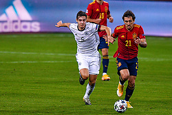 SEVILLE, SPAIN - Tuesday, November 17, 2020: Florian Neuhaus of Germany, Mikel Oyarzabal of Spain during the UEFA Nations League match between Spain and Germany at Estadio La Cartuja de Sevilla on november 17, 2020 in Seville, Spain (Photo by Jeroen Meuwsen/Orange Pictures)