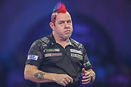 Peter Wright during the PDC William Hill World Darts Championship Semi-Final at Alexandra Palace, London, United Kingdom on 30 December 2019.