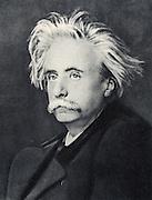 Edvard (Hagerup) Grieg  (1843-1907) Norwegian composer. After a photograph.