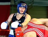 Boksing, NM senior Raufosshallen 1. april 2001. Kay Tverberg.