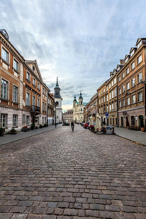 Freta street in New Town in Warsaw, Poland. Freta Street (Ulica Freta) is the main street of New Town.