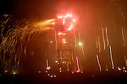 Ecuador, May 1 2010: Fireworks to celebrate a 40th birthday at Hacienda Zuleta. Copyright 2010 Peter Horrell