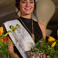 Muzsa Kalvari participates the Miss Hungary beauty contest held in Budapest, Hungary on December 29, 2011. ATTILA VOLGYI