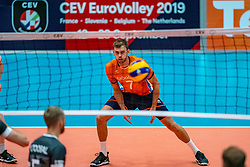 12-06-2019 NED: Golden League Netherlands - Estonia, Hoogeveen<br /> Fifth match poule B - The Netherlands win 3-0 from Estonia in the series of the group stage in the Golden European League / Gijs Jorna #7 of Netherlands