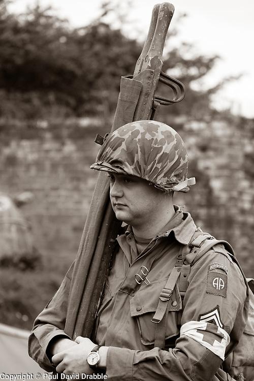 Stretcher bearer 82nd 505th PIR - Nww2A Fort Paull<br /> <br />  Copyright Paul David Drabble<br /> 5th & 6th May 2019<br />  www.pauldaviddrabble.co.uk