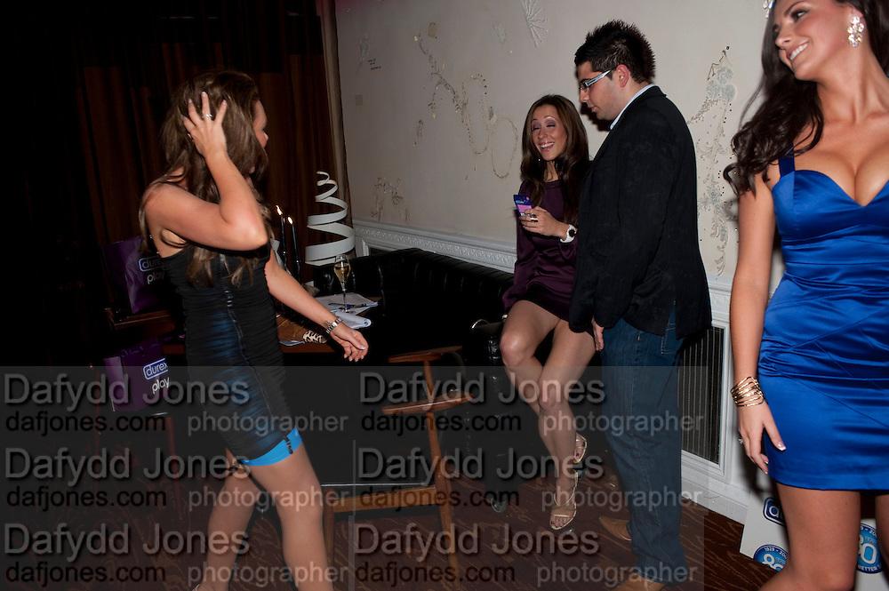 MICHELLE HEATON; VIVIANNA; KATIE GREEN, Durex - 80th birthday party. Sketch, 9 Conduit Street, London W1, 20 OCTOBER 2009