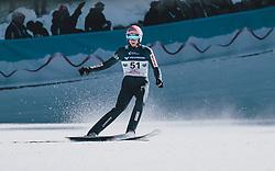 15.02.2020, Kulm, Bad Mitterndorf, AUT, FIS Ski Flug Weltcup, Kulm, Herren, im Bild Dawid Kubacki (POL) // Dawid Kubacki of Poland during his Jump for the men's FIS Ski Flying World Cup at the Kulm in Bad Mitterndorf, Austria on 2020/02/15. EXPA Pictures © 2020, PhotoCredit: EXPA/ JFK