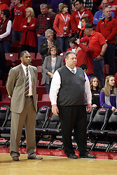 15 January 2016: Lennox Forrester and Marty Simmons during the Illinois State Redbirds v Evansville Purple Aces at Redbird Arena in Normal Illinois (Photo by Alan Look)