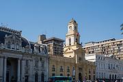Exterior view, Museum of National History, Plaza de Armas, Santiago, Chile.