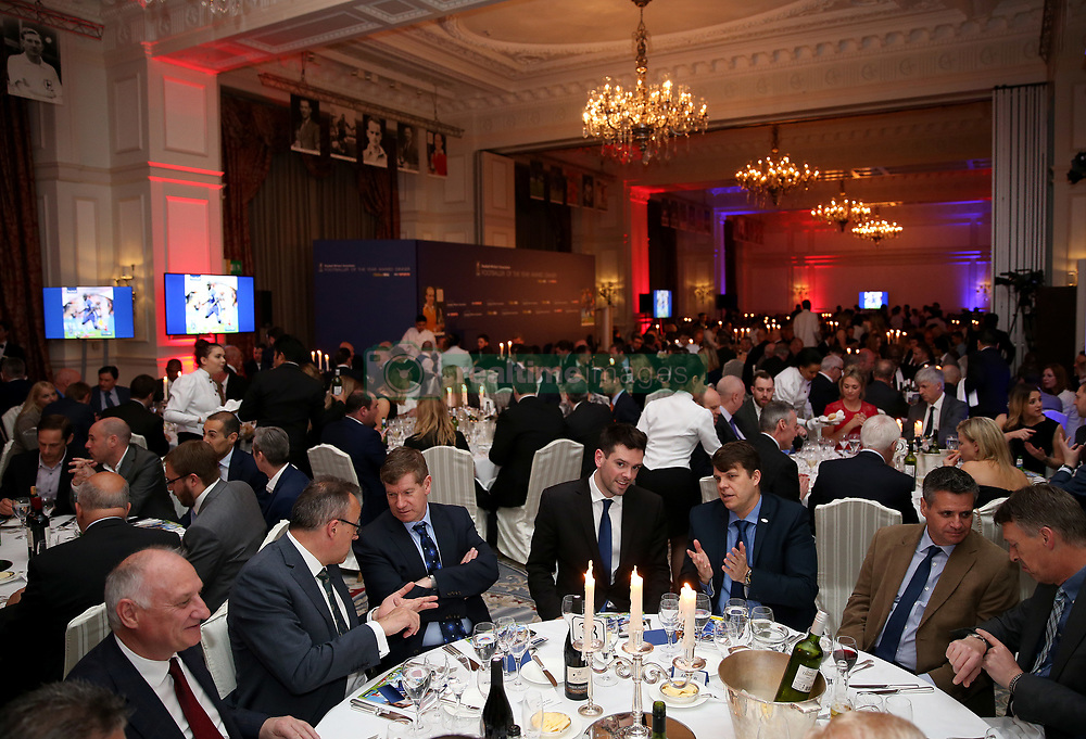 Guests take their seats during the FWA Footballer of the Year Dinner at The Landmark Hotel, London. PRESS ASSOCIATION Photo. Picture date: Thursday May 18, 2017. Photo credit should read: Steven Paston/PA Wire.