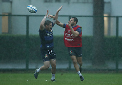 November 20, 2018 - Rome, Italy - Rugby Italy training - Cattolica Test Match.Oliviero Fabiani and Edorardo Padovani at Giulio Onesti Sport Center in Rome, Italy on November 20, 2018. (Credit Image: © Matteo Ciambelli/NurPhoto via ZUMA Press)