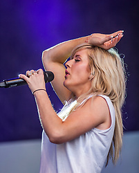 "Ellie Goulding on the Main Stage. Friday at Rockness 2013, the annual music festival which took place in Scotland at Clune Farm, Dores, on the banks of Loch Ness, near Inverness in the Scottish Highlands. The festival is known as ""the most beautiful festival in the world"" ."