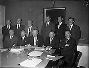 Mr. John Sisk signs the contract for the construction of Liberty Hall. Liberty Hall is the headquarters of the Services, Industrial, Professional, and Technical Union (SIPTU). It was formerly the tallest storeyed building in Ireland.<br /> 20.07.1961