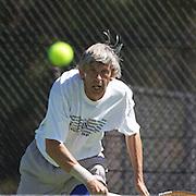 Hans Adama Van Scheltema, Nederlands, winning the 60 Mens Singles Final during the 2009 ITF Super-Seniors World Team and Individual Championships at Perth, Western Australia, between 2-15th November, 2009.