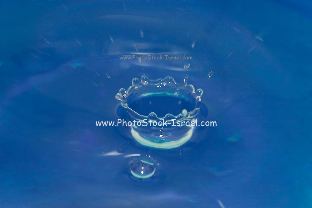 Water Droplet Impact Frozen Mid Splash