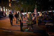 #occupywallstreet anti-corporate protests at Zuccotti Park in Lower Manhattan on September 20, 2011.  Photograph by Andrew Hinderaker.