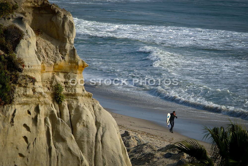 Surfer on the Beach in San Clemente