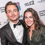 NLD/Rotterdam/20161102 - MTV Music Week Official Opening Party 2016, Julian Jordan en partner Paula de Kruif