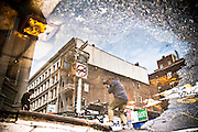 A street photographer shoots a street dandy in SoHo, New york.