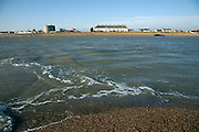 Felixstowe Ferry at the mouth of the River Deben from Bawdsey, Suffolk, England