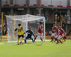 Watford's Diego Fabbrini tries to slip the ball through  - Photo mandatory by-line: Nigel Pitts-Drake/JMP - Tel: Mobile: 07966 386802 25/08/2013 - SPORT - FOOTBALL -Vicarage Road Stadium - Watford -  Watford v Nottingham Forest - Sky Bet Championship