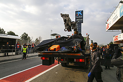 February 26, 2018 - Barcelona, Spain - Motorsports: FIA Formula One World Championship 2018, Test in Barcelona,  Car unrevealed under cover  (Credit Image: © Hoch Zwei via ZUMA Wire)