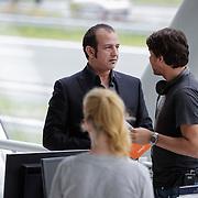 NLD/Utrecht/20120731 - Setbezoek filmopname Valentino, Najib Amhali in gesprek met de regisseur
