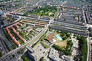 Nederland, Amsterdam, Amsterdam-West, 25-05-2010. Jan van Galenstraat met Erasmuspark , stadsdeel Bos en Lommer, Oud-West..Western part of the city..luchtfoto (toeslag), aerial photo (additional fee required).foto/photo Siebe Swart