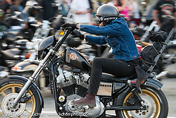 Friday night pre-party at Cooks Corner before the start of the Born Free 9 Motorcycle Show. Costa Mesa, CA. USA. June 23, 2017. Photography ©2017 Michael Lichter.