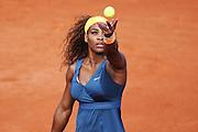 Paris, France. Roland Garros. May 29th 2013.<br /> American player Serena WILLIAMS against Caroline GARCIA