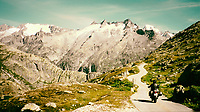 It is for good reason this image was chosen for the cover of John Hermann's book, Motorcycle Journeys Through the Alps and Corsica, Third Edition.  Shot in the Swiss Alps, where the passes Furka and Grimsel meet this image illustrates the lure of motorcycling in the Alps.