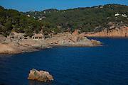 Rock on the coastline at Tamariu, Catalonia, Spain
