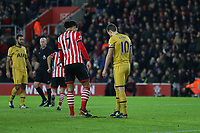 Football - 2016 / 2017 Premier League - Southampton vs. Tottenham Hotspur<br /> <br /> Southampton's Virgil van Dijk replaces the turf that Harry Kane of Tottenham Hotspur dug up when blasting his penalty over the bar at St Mary's Stadium Southampton England<br /> <br /> COLORSPORT/SHAUN BOGGUST