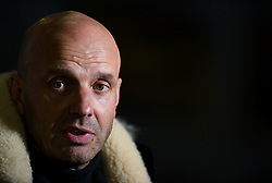 Bristol Rovers manager Paul Tisdale talks to the press after the final whistle of the match - Mandatory by-line: Ryan Hiscott/JMP - 12/01/2021 - FOOTBALL - Memorial Stadium - Bristol, England - Bristol Rovers v AFC Wimbledon - Papa John's Trophy