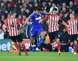 Southampton's Jose Fonte competes for the ball with Ipswich Town's Tyrone Mings - Photo mandatory by-line: Paul Knight/JMP - Mobile: 07966 386802 - 04/01/2015 - SPORT - Football - Southampton - St Mary's Stadium - Southampton v Ipswich Town - FA Cup Third Round