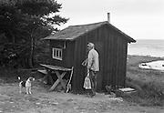 Stenarbete i Kettelvik på södra Gotland.