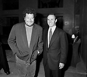 Philippe Starck and Ian Schrager. Opening of the Paramount hotel. New York. 1990. © Copyright Photograph by Dafydd Jones 66 Stockwell Park Rd. London SW9 0DA Tel 020 7733 0108 www.dafjones.com