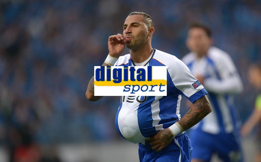 Fotball<br /> 15.04.2015<br /> Foto: imago/Digitalsport<br /> NORWAY ONLY<br /> <br /> CHAMPIONS LEAGUE VIERTELFINAL HINSPIEL FC Porto - FC Bayern München<br /> <br /> Ricardo Quaresma (FC Porto) jubelt nach seinem Tor