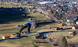 31.12.2016, Schattenbergschanze, Oberstdorf, GER, FIS Weltcup Ski Sprung, Vierschanzentournee, Oberstdorf, Training, im Bild Markus Eisenbichler (GER) // Markus Eisenbichler of Germany during his Practice Jump for the Four Hills Tournament of FIS Ski Jumping World Cup at the Schattenbergschanze in Oberstdorf, Germany on 2016/12/31. EXPA Pictures © 2016, PhotoCredit: EXPA/ Jakob Gruber