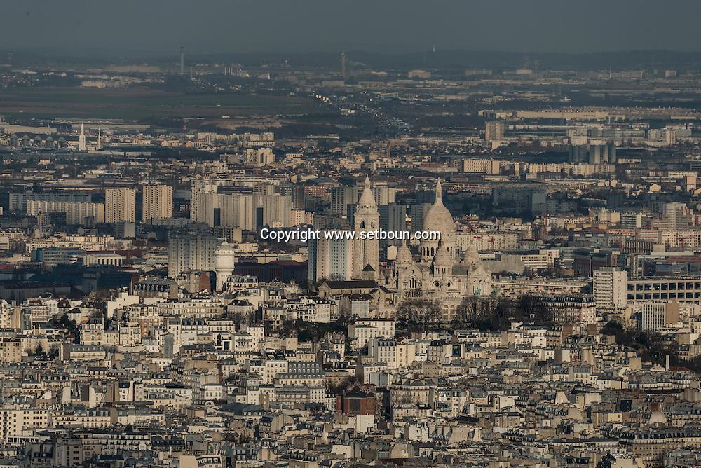 France. Paris The north of Paris. / le nord de  Paris vue d'en haut