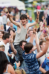 © Licensed to London News Pictures. 27/06/2015. Witney, Oxfordshire. 3000 attended the very first Lib Fest that took place in memory of Witney schoolgirl Liberty Baker who was killed on the way to school by 18 year old driver Robert Blackwell. PAUL BAKER, the father of Liberty was accused by Police of harassing the Blackwell family and was due in front of magistrates, but it was dropped at the last minute. Photo credit : MARK HEMSWORTH/LNP