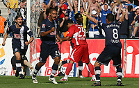 Fotball<br /> Bundesliga Tyskland<br /> 18.08.2007<br /> Foto: Witters/Digitalsport<br /> NORWAY ONLY<br /> <br /> Jubel v.l. Marko Pantelic, Malik Fathi, Antonio da Silva VfB, Pal Dardai<br /> <br /> Bundesliga Hertha BSC Berlin - VfB Stuttgart