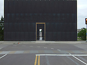 USA, Oklahoma, Oklahoma City, The Murrah Federal Building bombing Memorial Park in April 1995 the Gate of Time structure