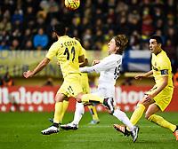 Villarreal CF's J. Costa and Real Madrid's Modric during La Liga match. December 13, 2015. (ALTERPHOTOS/Javier Comos)