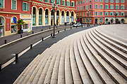 Stairs at Place Massena in Nice, France