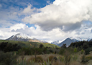 View of New Zealand's Takitumu Mountains, from near Whare Creek, Southland; September 2012